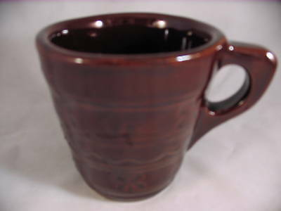 Marcrest Daisy Dot Cup / Mug Brown Stoneware