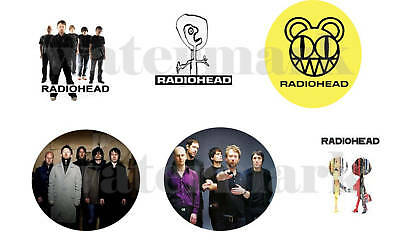 """Radiohead set of 6 ONE INCH BUTTONS 1"""" Pins"""