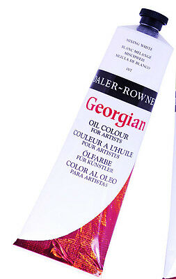 Daler Rowney Georgian Oil - Titanium White - 2 x large 225ml tubes = 450ml