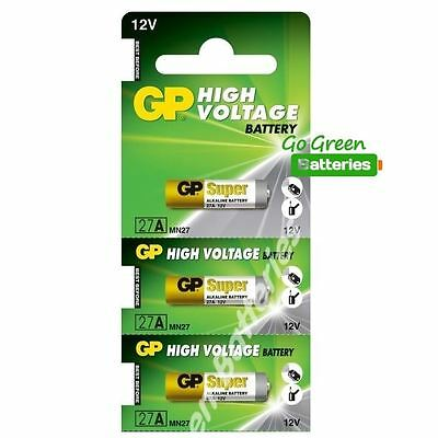 3 x GP 27A 12V Battery GP27A A27 MN27 E27A EL812 L828