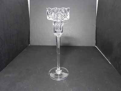 """Mikasa Balmoral Leaded Crystal Candlestick Clear 10 1/8"""" T"""