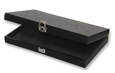 Jewelry Traveling Wood Display Case With Hinged Lid