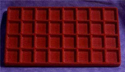 Flocked 32 Compartment Red Insert 14 X 7 1/2