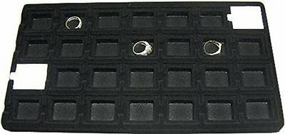 28 Slot Flocked Tray Insert For Puff Cards