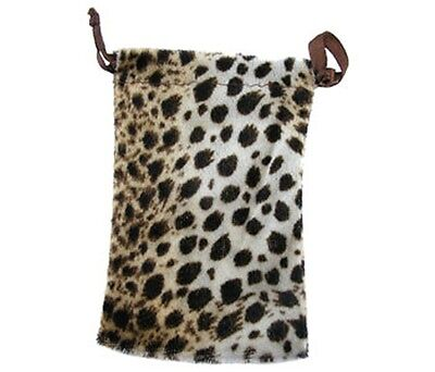 Lot Of 12  Leopard Drawstring Pouch Gift Bags