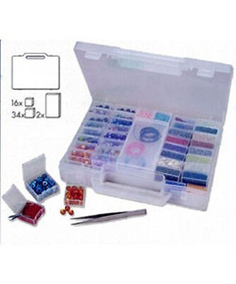 STORAGE CASE with 52 INNER BOXES for BEADS or FINDINGS