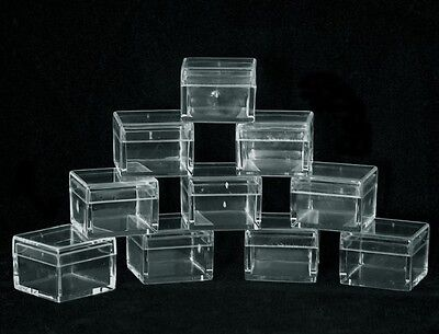 Square Clear Acrylic Gem Boxes 100 Qty