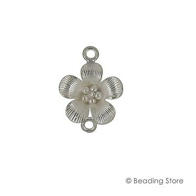 Silver 97%-99% 26mm x 21mm Flower Link Connector Karen Hill Tribe Hand Crafted