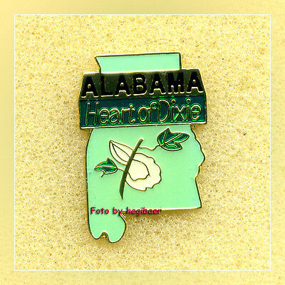Alabama Heart Of Dixie Cotton State Pin Pins Anstecker