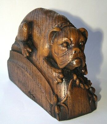 Bull Dog Reproduction Carving Unique cast Scotland Gift