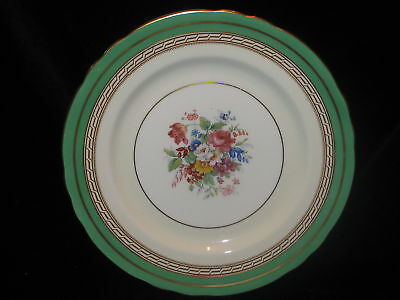 AYNSLEY - 7831 - Green Band - Floral - DINNER PLATE - 1D