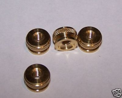 4 Brass Replacement Spark Plug Thumb Nuts M4 Thread