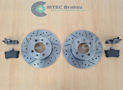 MGTF MGF TF Rear Drilled Grooved Brake Discs & Pads