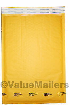 300 #4 9.5x14.5 Kraft Bubble Padded Envelope Mailers