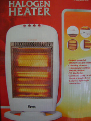New Electric Portable Halogen Heater  400/800/1200W
