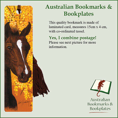 Horse with wattle bookmark with tassel