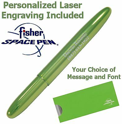Personalized Fisher Space Pen #400LG/P - Lime Green Bullet Pen