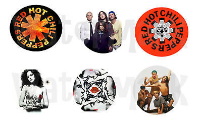 "Red Hot Chili Peppers set of 6 ONE INCH BUTTONS 1"" Pins"