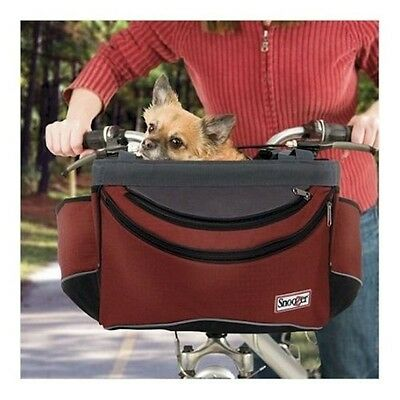 Snoozer Pet Dog Sporty Bicycle Bike Basket Carrier Red