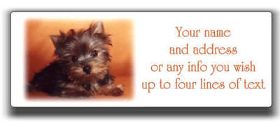 Yorkie Yorkshire Terrier Personalized Address Labels Several Choices!