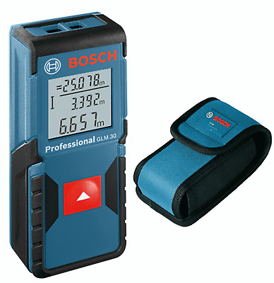 BOSCH 30m/98ft GLM 30 Laser Digital Distance Tape Measure/Pointer Both mm/Inches