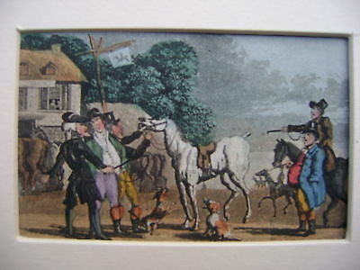 Engravings Dr.syntax Rowlandson Early 19Thc Horses