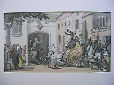 Engravings Dr.syntax Rowlandson Early 19Thc Death Coach