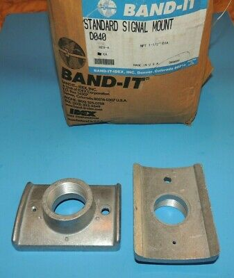 "Band-IT Pole Street Sign Safety Traffic Signal Mounts D040  NPT 1-1/2""  2 ea USA"