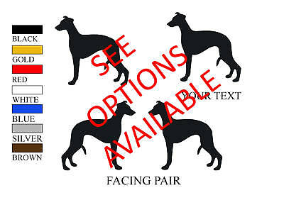 Whippet Dog Decal Sticker Car  Van Vinyl Window Graphic