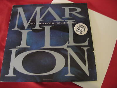 "Marillion -Cover My Eyes (Pain And Heaven) 12"" w/poster"