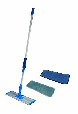 "24"" Real Clean Commercial Mop Kit Frame, Pole, 2 Microfiber Pads"