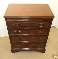 Mahogany Satinwood Bachelors Chest Drawers Brush+Slide