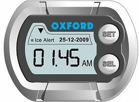 Oxford Micro Digital Motorcycle Clock With Ice Alert