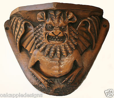 Medieval Grotesque Gargoyle Cathedral Misericord Carving Mythical Creature Bat