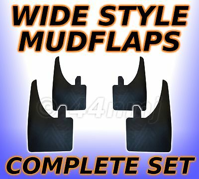 4 x WIDE Rubber Mud Flap Mudflaps Full Set  FRONT & REAR - Easy Mounting New