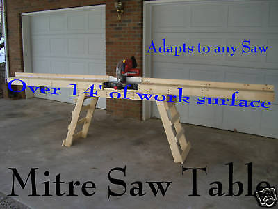 """Miter Saw Stand """"Build Your Own"""" How to Plans, New"""