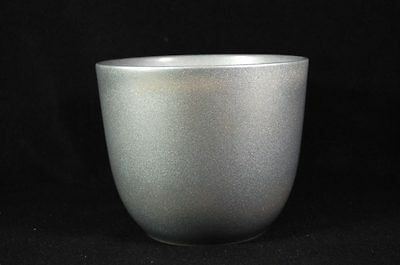"""Vintage Made in Germany 069/17 Pottery Mixing Bowl Silver Fleck 6-3/4"""""""