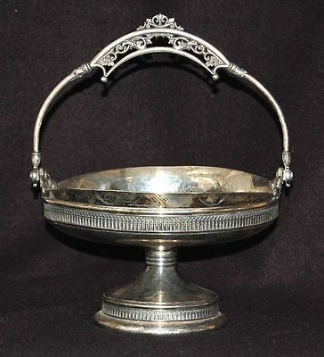Victorian Derby Quadruple Silver Plate Owls Footed Bowl