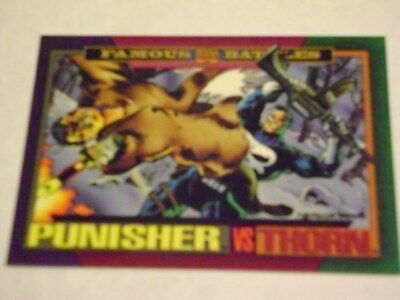 Marvel Universe 1993 Series 4 Card #153 Punisher/thorn