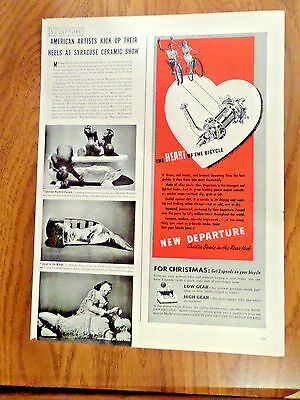 1940 New Departure Bicycle Ad Speed Changer