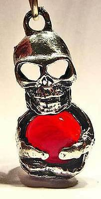 Red Skull Pewter Pendant Hippie Goth Wicca Fairy 1637
