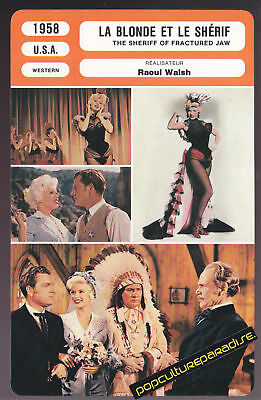 THE SHERIFF OF FRACTURED JAW 1958 5x8 MOVIE PHOTO CARD