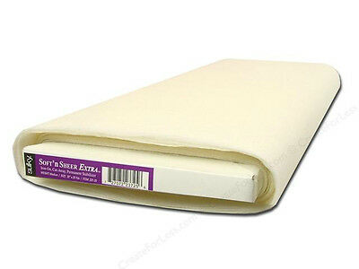 "SULKY Soft n Sheer Extra EMBROIDERY STABILIZER!20""x25YD"