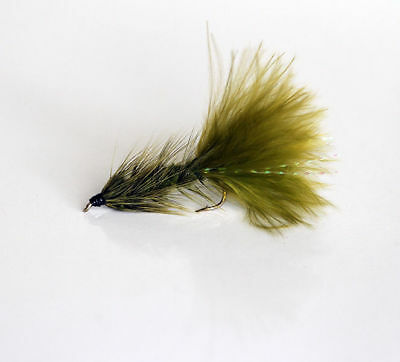 12 Woolly Bugger Olive TROUT FLIES for fly fishing rods