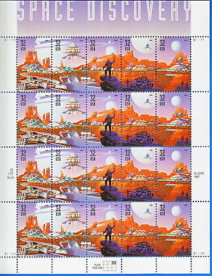 3238-42 Mint Pane 20 .32 Space Discovery