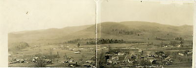 RPPC NY Little Genesee Dbl Sized Panoramic