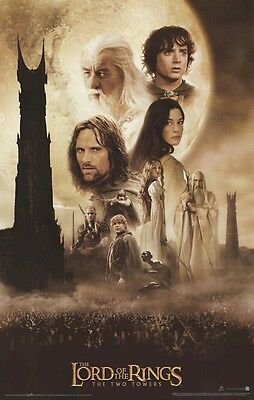 LORD OF RINGS ~ TWO TOWERS CAST MOVIE POSTER 22x34