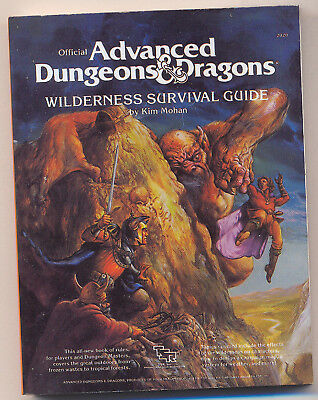 AD&D WILDERNESS SURVIVAL GUIDE Miniaturized Bk TWE2020