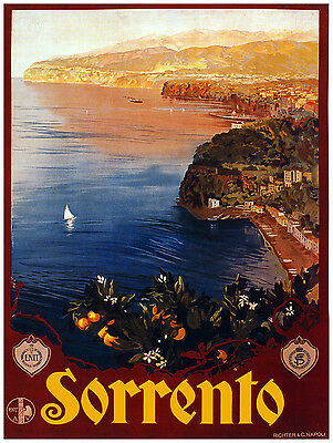 Italy Sorrento 064 VINTAGE TRAVEL POSTER