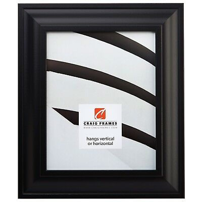 "Craig Frames Contemporary Upscale, 2"" Satin Black Picture Frame, Square Sizes"